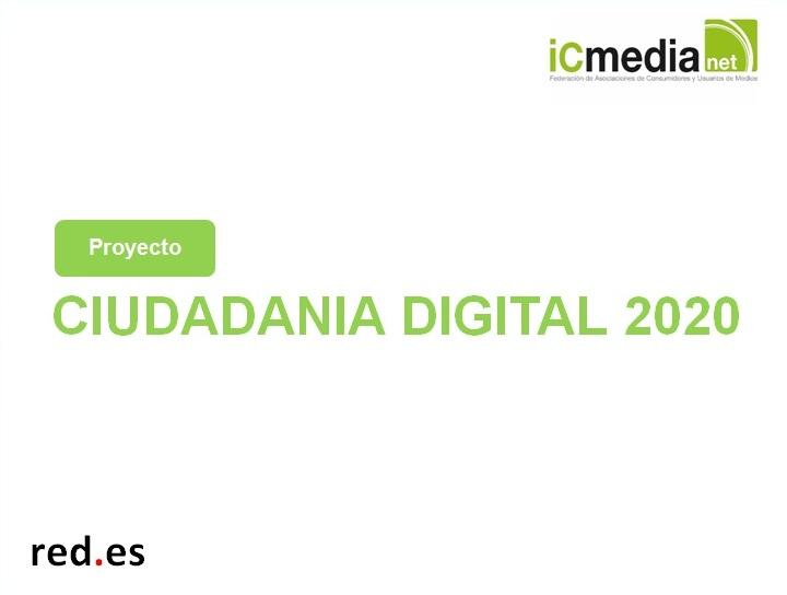 Sesiones del proyecto Ciudadanía Digital 2020
